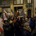 Protest KOD Zielona Góra przeciw ograniczeniu mediów w Sejmie