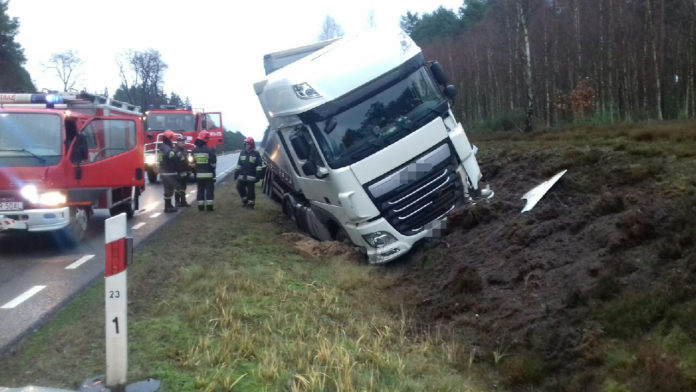 Wypadek na trasie Gubin-Brzózka