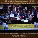 Protest przeciw ograniczeniu mediom wstępu do Sejmu