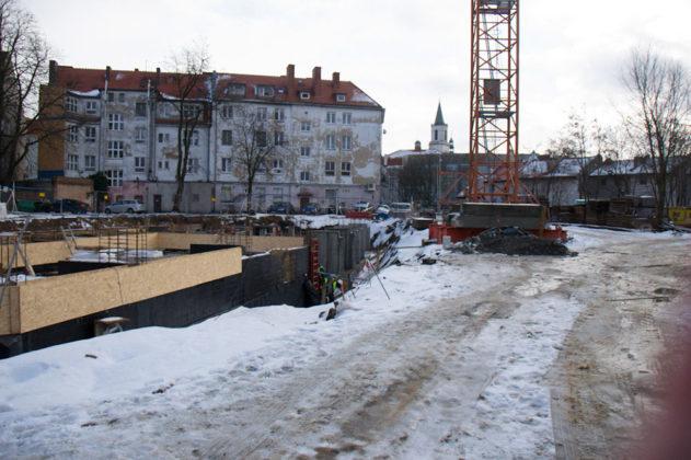 Kamienica zamkowa w trakcie budowy