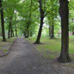 oświetlenie w Parku Piastowskim