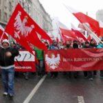 marsz przeciwko uchodźcom w Zielonej Górze