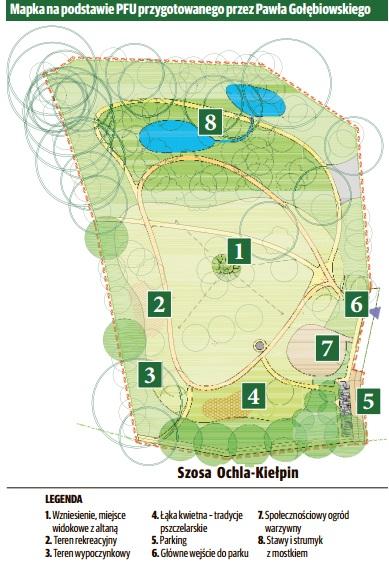 Rewitalizacja parku w Kiełpinie (plan)