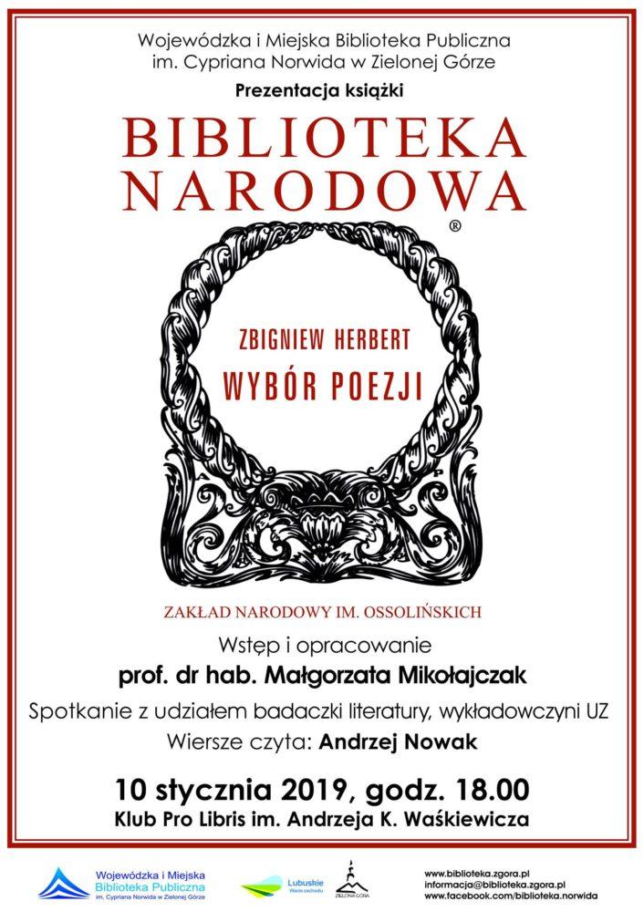 Zbigniew Herbert Wybór Poezji Prezentacja Książki